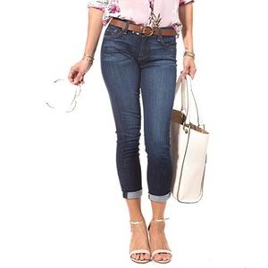 NWT 7 for all mankind Skinny Crop and Roll Jeans
